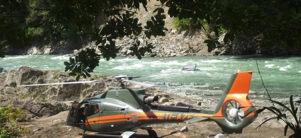 Hubschrauber Landeplatz - Pacuare Lodge Fluss- Costa Rica