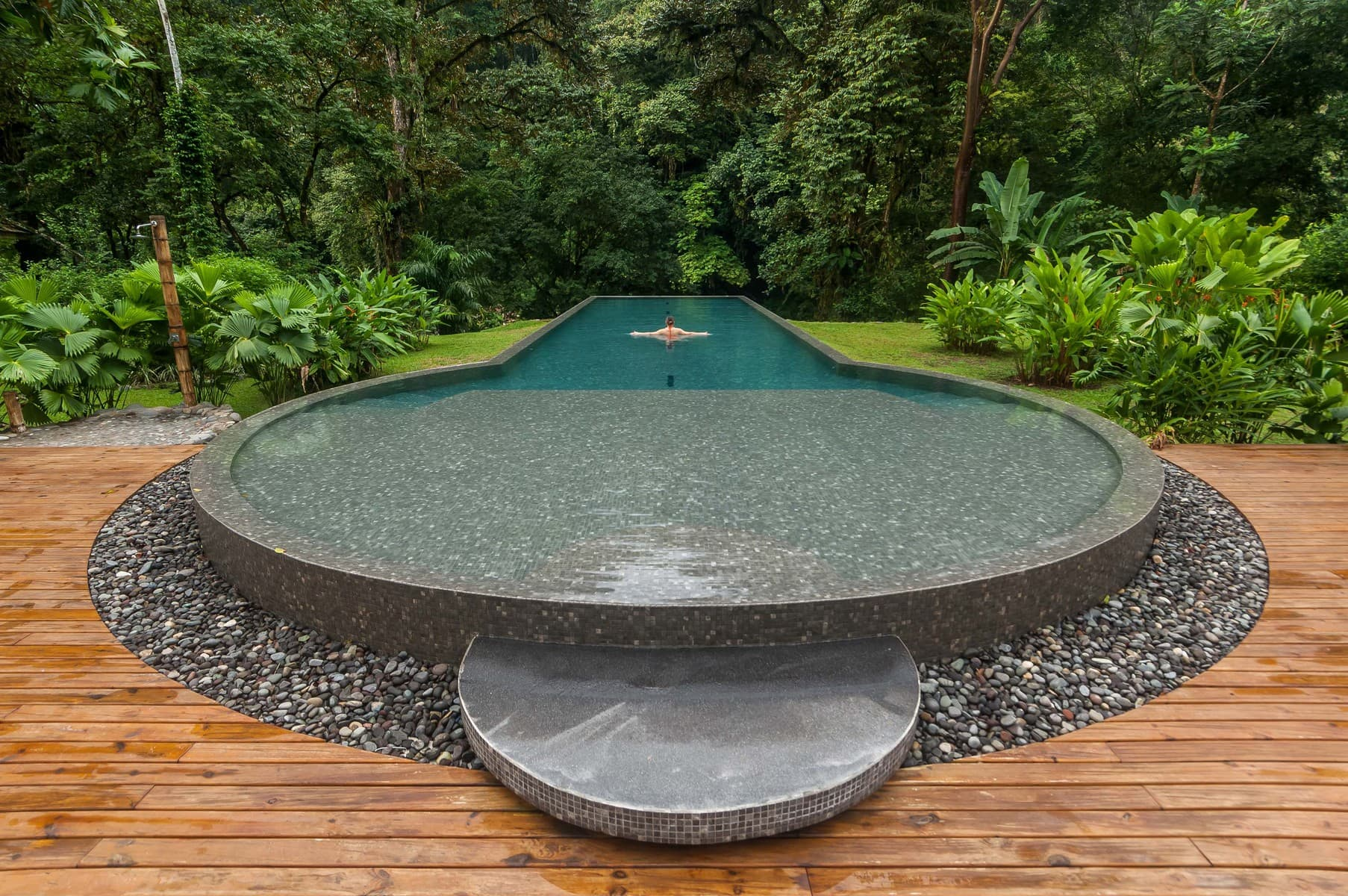 Pool - Pacuare Lodge Fluss- Costa Rica