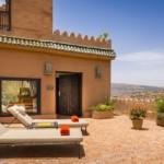 Marokko - Kasbah Tamadot - Terrasse