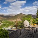 Marokko - Kasbah Tamadot - Terrasse mit Panoramablick