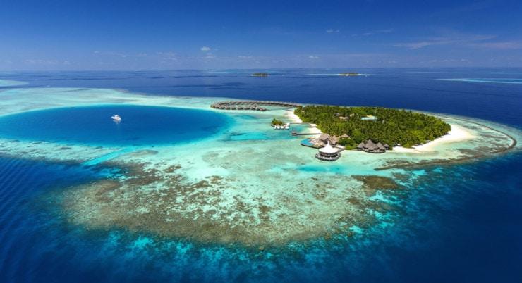 Baros Maldives - riff von oben