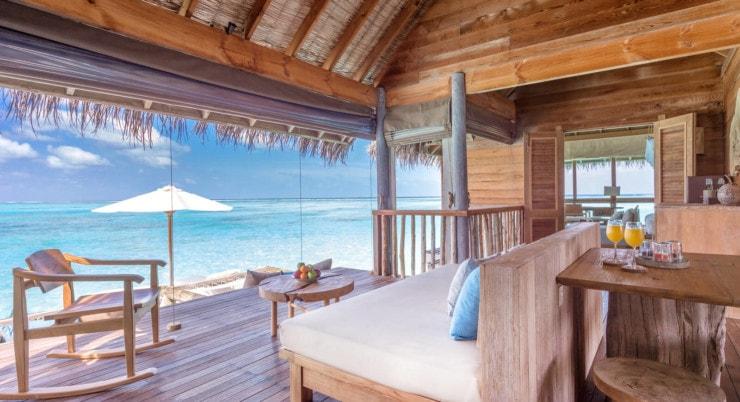 Gili Lankanfushi - Villa suite Wohnzimmer