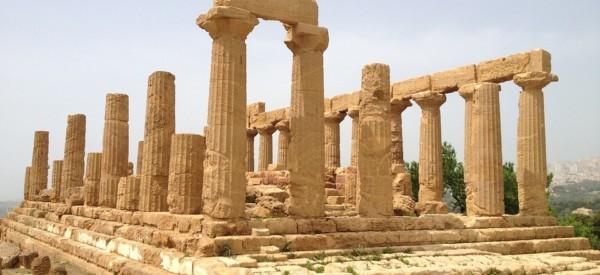 Italy Agrigento Valle Dei Templi Temple Sicily