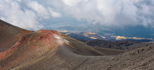 Beautiful landscape of Mount Etna, Sicily, Italy