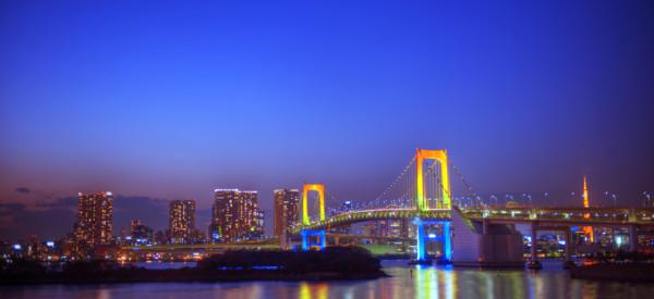 Panaroma of illuminated Tokyo.