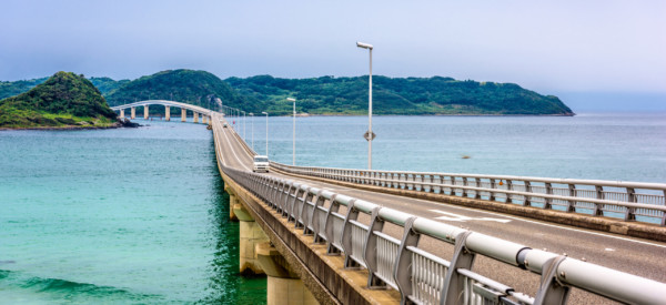 Tsunoshima Ohashi Bridge in Shimonoseki, Japan.