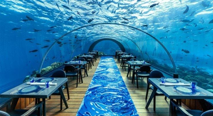 Hurawalhi Island Resort - Unterwasser Restaurant