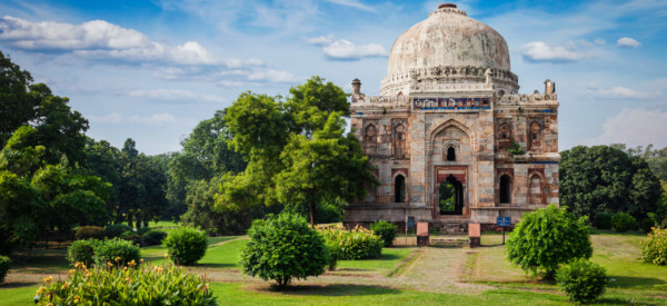 Sheesh Gumbad - tomb from the last lineage of the Lodhi Dynasty. It is situated in Lodi Gardens city park in Delhi, India