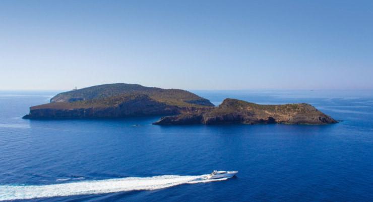 Tagomago Island - insel von oben