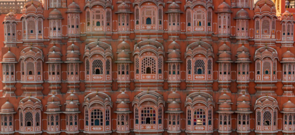 Beautiful view to Hawa Mahal in Jaipur, Rajastan. Travel concept in India