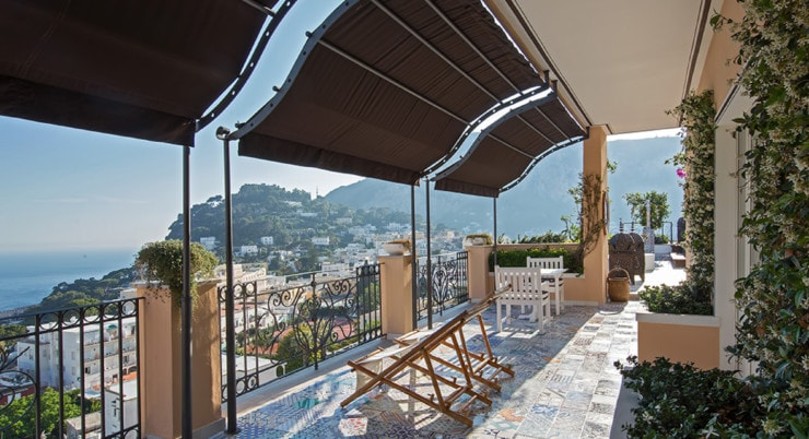 Capri Tiberio Palace - private terrasse